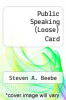 cover of Public Speaking (Loose) Card (7th edition)