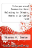 cover of Interpersonal Communication: Relating to Others, Books a la Carte Plus Mycommunicationlab Coursecompass (5th edition)