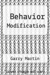 Cover of Behavior Modification 9 (ISBN 978-0205833986)