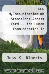 Cover of NEW MyCommunicationLab -- Standalone Access Card -- for Human Communication in Society 3 (ISBN 978-0205850662)