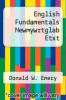 cover of English Fundamentals Newmywrtglab Etxt (16th edition)