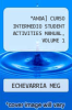 cover of Student Activities Manual for Anda! Curso intermedio, Volume 1 (2nd edition)