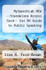 cover of MySpeechLab NEW --Standalone Access Card-- for DK Guide to Public Speaking (1st edition)