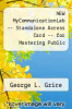 cover of NEW MyCommunicationLab -- Standalone Access Card -- for Mastering Public Speaking (8th edition)
