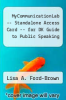 cover of MyCommunicationLab -- Standalone Access Card -- for DK Guide to Public Speaking (1st edition)