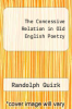 cover of The Concessive Relation in Old English Poetry
