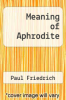 cover of Meaning of Aphrodite