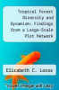 cover of Tropical Forest Diversity and Dynamism: Findings from a Large-Scale Plot Network