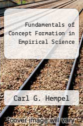 Cover of Fundamentals of Concept Formation in Empirical Science EDITIONDESC (ISBN 978-0226575971)