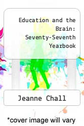 Cover of Education and the Brain: Seventy-Seventh Yearbook  (ISBN 978-0226601014)