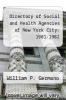 cover of Directory of Social and Health Agencies of New York City: 1981-1982