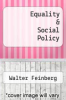 cover of Equality & Social Policy