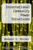 cover of International Community Power Structures