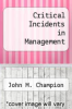 cover of Critical Incidents in Management (3rd edition)