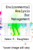 cover of Environmental Analysis for Management