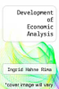 cover of Development of Economic Analysis (3rd edition)