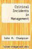 cover of Critical Incidents in Management