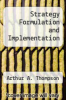 cover of Strategy Formulation and Implementation (4th edition)