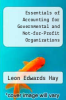 cover of Essentials of Accounting for Governmental and Not-for-Profit Organizations (2nd edition)