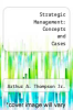cover of Strategic Management: Concepts and Cases (5th edition)