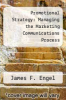 cover of Promotional Strategy: Managing the Marketing Communications Process (7th edition)