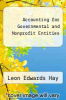 cover of Accounting for Governmental and Nonprofit Entities (9th edition)