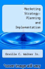 cover of Marketing Strategy: Planning and Implementation