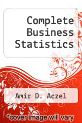Cover of Complete Business Statistics 2 (ISBN 978-0256092776)