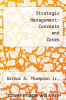 cover of Strategic Management: Concepts and Cases (6th edition)