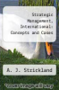 cover of Strategic Management, International: Concepts and Cases (6th edition)