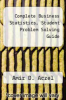 cover of Complete Business Statistics, Student Problem Solving Guide (3rd edition)