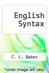Cover of English Syntax 2 (ISBN 978-0262023856)