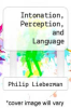 cover of Intonation, Perception, and Language