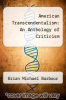 cover of American Transcendentalism: An Anthology of Criticism