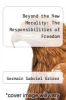 cover of Beyond the New Morality: The Responsibilities of Freedom