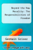 cover of Beyond the New Morality: The Responsibilities of Freedom (3rd edition)
