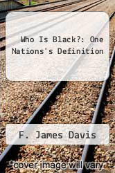 Cover of Who Is Black?: One Nations