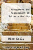 cover of Management and Measurement of Software Quality