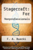 cover of Stagecraft: For Nonprofessionals