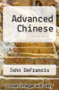 cover of Advanced Chinese