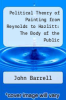 cover of Political Theory of Painting from Reynolds to Hazlitt: The Body of the Public