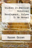 cover of Studies in American Political Development, Volume I: An Annual