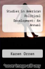 cover of Studies in American Political Development: An Annual