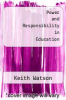 cover of Power and Responsibility in Education