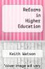 cover of Reforms in Higher Education