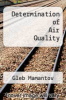 cover of Determination of Air Quality