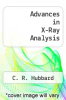 cover of Advances in X-Ray Analysis