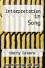 cover of Interpretation in Song