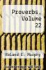 cover of Proverbs, Volume 22