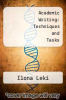 cover of Academic Writing: Techniques and Tasks